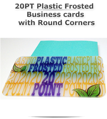 20pt plastic frosted business cards with round corners this stock is 100 clear 20 pt transparent frosted plastic colourmoves