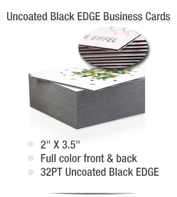 2 x 35 32pt uncoated black edge business cards reheart Choice Image